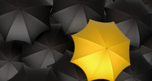 Black and Yellow Umbrella Wallpaper