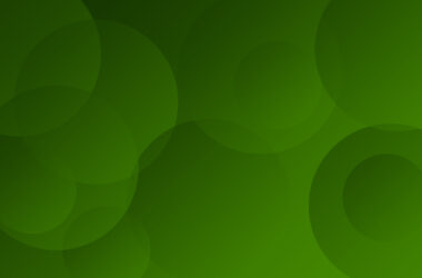 Green Background with Circles
