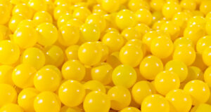 Yellow Balls Wallpaper