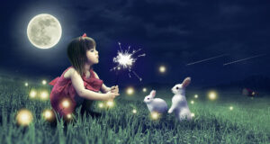 Cute-Girl-With-Cute-Rabbits-Pic