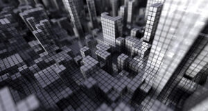 Gray-Cubes-Grid-Background