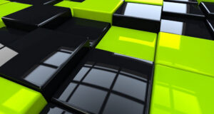 Green-Black-Cubes-Surface-Background