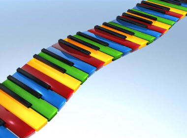3d Piano Switch Art Image
