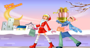Merry-Christmas-Cartoon-Shopping-Gifts-Pic