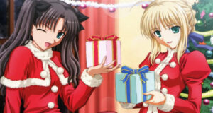 Two-Girls-Cartoon-on-Christmas-Gifts-Pic
