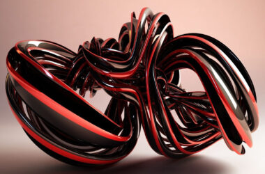 Black-and-Red-3d-Glass-Shape-Pic