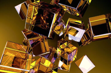 Golden-Glass-Cubes-HD-Image