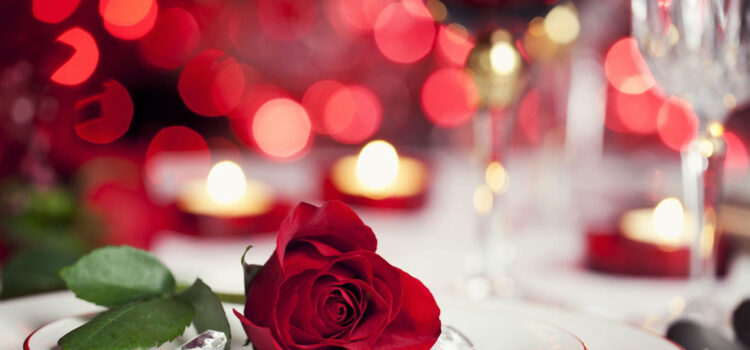 Red-Rose-on-Dining-Table-Full-HD-Pic