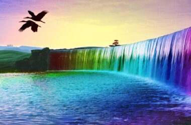 Wonderful-3d-Colourful-Waterfall-Pic