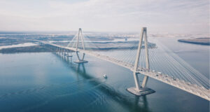 Aerial-Photo-of-Cable-stayed-Bridge