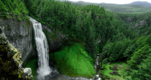 Aerial-Photo-of-Waterfall
