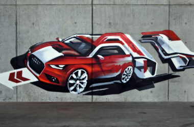 Audi-A1-Painting-on-Wall-HD-Pic