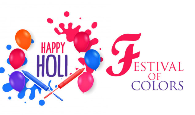 Happy Holi Colorful Balloons Pic HD