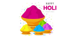 Happy Holi With Gulal Powder Pic